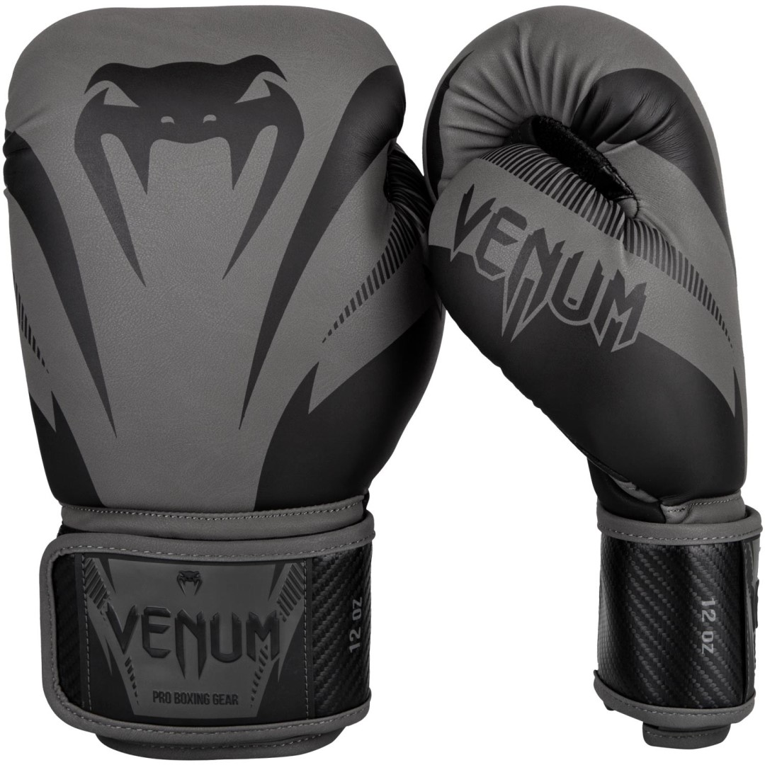 1007b96173 Boxerské rukavice Venum Impact šedo-černá
