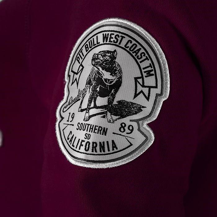 Dámská mikina Pitbull West Coast California vínova - S - JEMASPORT eae617363d